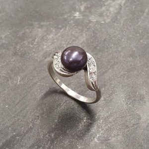 Shop Pearl Rings! Black Pearl Ring, Natural Pearl, Pearl Ring, June Birthstone, Antique Pearl Ring, Vintage Pearl Ring, June Ring, Solid Silver Ring, Pearl | Natural genuine Pearl rings, simple unique handcrafted gemstone rings. #rings #jewelry #shopping #gift #handmade #fashion #style #affiliate #ad