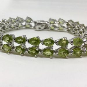 Shop Peridot Bracelets! 925 Silver Natural Peridot Bracelet, Appraised 2, 715 Cad | Natural genuine Peridot bracelets. Buy crystal jewelry, handmade handcrafted artisan jewelry for women.  Unique handmade gift ideas. #jewelry #beadedbracelets #beadedjewelry #gift #shopping #handmadejewelry #fashion #style #product #bracelets #affiliate #ad