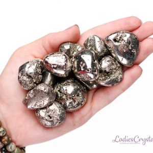 Shop Tumbled Pyrite Crystals & Pocket Stones! Pyrite Tumbled Stone, Healing Pyrite Crystals, Healing Pyrite Stones, Pyrite Mineral, Pyrite Gemstone, Pyrite Tumbled Stones, LadiesCrystals | Natural genuine stones & crystals in various shapes & sizes. Buy raw cut, tumbled, or polished gemstones for making jewelry or crystal healing energy vibration raising reiki stones. #crystals #gemstones #crystalhealing #crystalsandgemstones #energyhealing #affiliate #ad