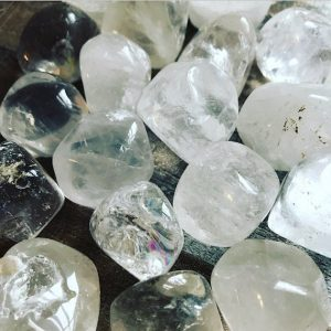 Shop Tumbled Quartz Crystals & Pocket Stones! Clear Quartz Crystals – Tumbled | Natural genuine stones & crystals in various shapes & sizes. Buy raw cut, tumbled, or polished gemstones for making jewelry or crystal healing energy vibration raising reiki stones. #crystals #gemstones #crystalhealing #crystalsandgemstones #energyhealing #affiliate #ad