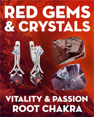 What Do Red Gemstones & Crystals Mean?. Learn the names and meanings of red gemstones & crystals including garnet, ruby, and red spinel.