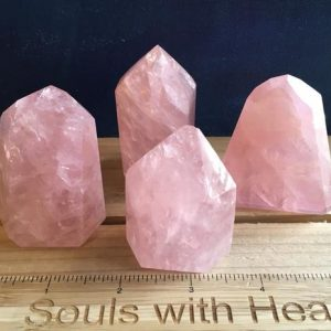 Shop Rose Quartz Points & Wands! Rose Quartz Crystal Point, Crystal Tower, Premium Rose Quartz, Love Stone, healing Stone, Healing Crystal, Chakra Stone, Spiritual Stone | Natural genuine stones & crystals in various shapes & sizes. Buy raw cut, tumbled, or polished gemstones for making jewelry or crystal healing energy vibration raising reiki stones. #crystals #gemstones #crystalhealing #crystalsandgemstones #energyhealing #affiliate #ad