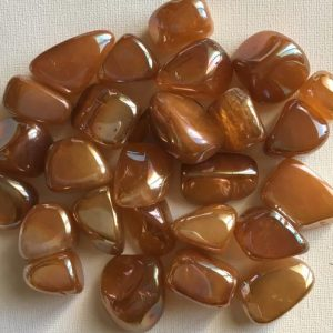 Shop Tumbled Rose Quartz Crystals & Pocket Stones! Orange Aura Rose Quartz Tumbled Stone, Healing Stone, Healing Crystal, Spiritual Stone, Meditation, Chakra Stone | Natural genuine stones & crystals in various shapes & sizes. Buy raw cut, tumbled, or polished gemstones for making jewelry or crystal healing energy vibration raising reiki stones. #crystals #gemstones #crystalhealing #crystalsandgemstones #energyhealing #affiliate #ad