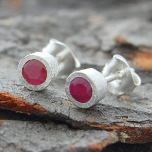 Shop Ruby Earrings! Stud Earrings, Silver Gemstone Studs, Silver Ruby Studs, Red Gemstone Studs, Birthstone Earrings, Real Ruby Earrings, Natural Stones | Natural genuine Ruby earrings. Buy crystal jewelry, handmade handcrafted artisan jewelry for women.  Unique handmade gift ideas. #jewelry #beadedearrings #beadedjewelry #gift #shopping #handmadejewelry #fashion #style #product #earrings #affiliate #ad