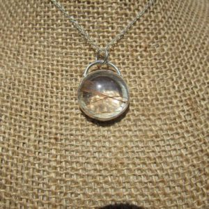 Shop Rutilated Quartz Pendants! Rutilated Quartz Pendant With Fancy Back | Natural genuine Rutilated Quartz pendants. Buy crystal jewelry, handmade handcrafted artisan jewelry for women.  Unique handmade gift ideas. #jewelry #beadedpendants #beadedjewelry #gift #shopping #handmadejewelry #fashion #style #product #pendants #affiliate #ad