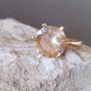 SALE!Rutilated quartz ring, prong ring,delicate ring,stacking ring, statement ring,rutilated quartz ring,fancy ring,gold ring,vintage ring | Natural genuine Rutilated Quartz rings, simple unique handcrafted gemstone rings. #rings #jewelry #shopping #gift #handmade #fashion #style #affiliate #ad