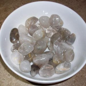 Shop Tumbled Rutilated Quartz Crystals & Pocket Stones! Rutilated Quartz Tumbled Stones | Natural genuine stones & crystals in various shapes & sizes. Buy raw cut, tumbled, or polished gemstones for making jewelry or crystal healing energy vibration raising reiki stones. #crystals #gemstones #crystalhealing #crystalsandgemstones #energyhealing #affiliate #ad
