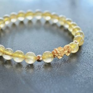 Shop Rutilated Quartz Bracelets! Sale Pixiu 24k Pure Gold Bracelet/gold Rutilated Quartz Bracelet/gold Bracelet/healing Bracelet/lucky Bracelet | Natural genuine Rutilated Quartz bracelets. Buy crystal jewelry, handmade handcrafted artisan jewelry for women.  Unique handmade gift ideas. #jewelry #beadedbracelets #beadedjewelry #gift #shopping #handmadejewelry #fashion #style #product #bracelets #affiliate #ad