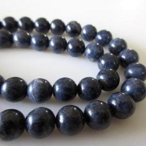 Sapphire Round Beads, Natural Blue Sapphire Round Smooth Beads, 8mm/6mm Sapphire Beads, Sapphire Beads, 16 Inch Strand, GDS1084 | Natural genuine round Sapphire beads for beading and jewelry making.  #jewelry #beads #beadedjewelry #diyjewelry #jewelrymaking #beadstore #beading #affiliate #ad