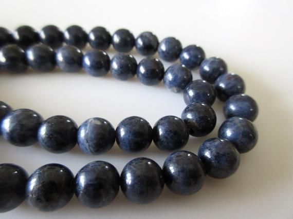 Sapphire Round Beads, Natural Blue Sapphire Round Smooth Beads, 8mm/6mm Sapphire Beads, Sapphire Beads, 16 Inch Strand, Gds1084