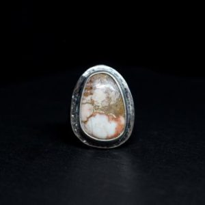 SIZE 7.75 – Wild Horse Magnesite Sterling Silver Ring | Wildhorse Turquoise | Statement Jewelry Rustic | Boho Minimalist | Gugma Jewelry | Natural genuine Array rings, simple unique handcrafted gemstone rings. #rings #jewelry #shopping #gift #handmade #fashion #style #affiliate #ad