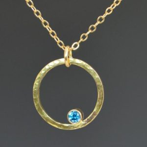 Shop Zircon Necklaces! Solid 14k Gold Blue Zircon Necklace, Mothers Necklace, Mom Necklace, December Birthstone Necklace, Blue Zircon Necklace, Blue Zircon | Natural genuine Zircon necklaces. Buy crystal jewelry, handmade handcrafted artisan jewelry for women.  Unique handmade gift ideas. #jewelry #beadednecklaces #beadedjewelry #gift #shopping #handmadejewelry #fashion #style #product #necklaces #affiliate #ad