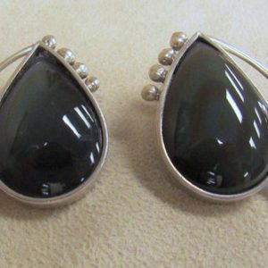 Shop Rainbow Obsidian Earrings! Sterling Silver and Rainbow Obsidian Post Earrings | Natural genuine Rainbow Obsidian earrings. Buy crystal jewelry, handmade handcrafted artisan jewelry for women.  Unique handmade gift ideas. #jewelry #beadedearrings #beadedjewelry #gift #shopping #handmadejewelry #fashion #style #product #earrings #affiliate #ad