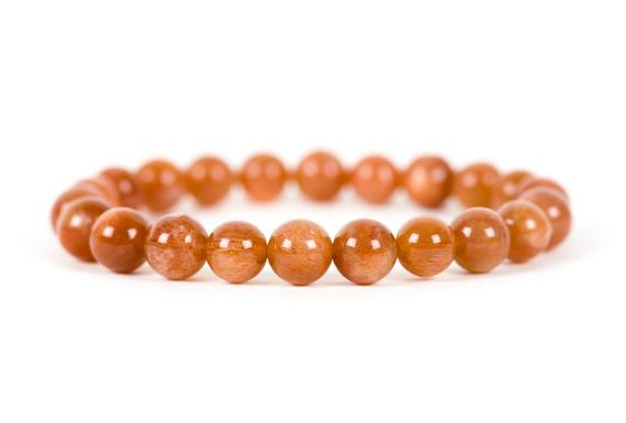 Genuine Sunstone Bracelet, Handmade Gemstone Jewelry