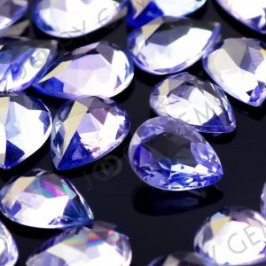 Tanzanite Rose Cut Cabochon 3x4mm Pear – Per Stone | Natural genuine stones & crystals in various shapes & sizes. Buy raw cut, tumbled, or polished gemstones for making jewelry or crystal healing energy vibration raising reiki stones. #crystals #gemstones #crystalhealing #crystalsandgemstones #energyhealing #affiliate #ad
