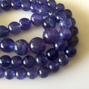 Shop Tanzanite Round Beads! Natural Tanzanite Smooth Round Beads, Rare Shape And Color Aaa Tanzanite Beads, 6mm To 10mm, 18 Inch Strand, Gds813 | Natural genuine round Tanzanite beads for beading and jewelry making.  #jewelry #beads #beadedjewelry #diyjewelry #jewelrymaking #beadstore #beading #affiliate #ad