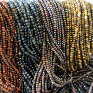 Shop Tiger Eye Faceted Beads! Tiger Eye Faceted beads, 2mm Tiger Eye Beads, Red Tiger Eye, Yellow Tiger Eye, Black Tigers Eye, Brown Tigers eye GDS1058 | Natural genuine faceted Tiger Eye beads for beading and jewelry making.  #jewelry #beads #beadedjewelry #diyjewelry #jewelrymaking #beadstore #beading #affiliate #ad