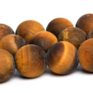 Shop Tiger Eye Round Beads! Matte Yellow Tiger Eye Beads Grade A Genuine Natural Gemstone Round Loose Beads 4MM 6MM 8MM 16MM Bulk Lot Options | Natural genuine round Tiger Eye beads for beading and jewelry making.  #jewelry #beads #beadedjewelry #diyjewelry #jewelrymaking #beadstore #beading #affiliate #ad
