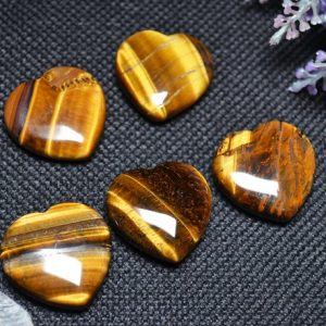 Shop Tiger Eye Shapes! Best Hand Carved Tiger's eye Stone Polished Heart Shaped/ Natural Tiger's eye Stone/Worry stone/Decoration/Special gift-30mm | Natural genuine stones & crystals in various shapes & sizes. Buy raw cut, tumbled, or polished gemstones for making jewelry or crystal healing energy vibration raising reiki stones. #crystals #gemstones #crystalhealing #crystalsandgemstones #energyhealing #affiliate #ad