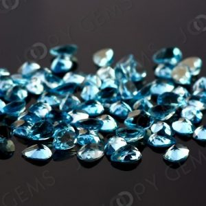 Shop Topaz Cabochons! Swiss Blue Topaz Rose Cut Pear Cabochon 7x5mm, per stone | Natural genuine stones & crystals in various shapes & sizes. Buy raw cut, tumbled, or polished gemstones for making jewelry or crystal healing energy vibration raising reiki stones. #crystals #gemstones #crystalhealing #crystalsandgemstones #energyhealing #affiliate #ad