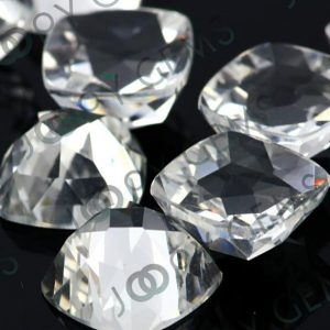 Shop Topaz Stones & Crystals! White Topaz Rose Cut Cabochon 8mm Square Cushion – 1 Cab | Natural genuine stones & crystals in various shapes & sizes. Buy raw cut, tumbled, or polished gemstones for making jewelry or crystal healing energy vibration raising reiki stones. #crystals #gemstones #crystalhealing #crystalsandgemstones #energyhealing #affiliate #ad