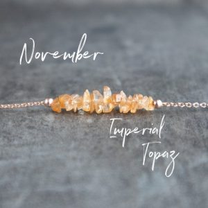 precious Topaz pendant rare crystal pendant dainty Topaz pendant Imperial Topaz necklace raw crystal necklace anniversary gift for her