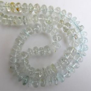 Shop Topaz Rondelle Beads! Blue Topaz Rondelle Beads, Smooth Blue Topaz Rondelle Beads, 7mm To 8mm Beads, 16 Inch Strand, Gds662 | Natural genuine rondelle Topaz beads for beading and jewelry making.  #jewelry #beads #beadedjewelry #diyjewelry #jewelrymaking #beadstore #beading #affiliate #ad
