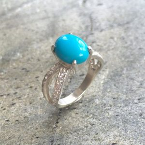 Shop Turquoise Rings! Turquoise Ring, Natural Turquoise, Antique Ring, December Birthstone, Engagement Ring, Blue Ring, Solitaire Ring, 3 Carat Ring, Silver Ring | Natural genuine Turquoise rings, simple unique alternative gemstone engagement rings. #rings #jewelry #bridal #wedding #jewelryaccessories #engagementrings #weddingideas #affiliate #ad