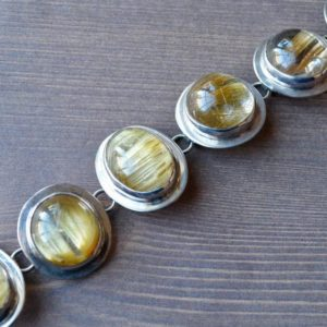Shop Rutilated Quartz Bracelets! Yellow Rutilated Quartz Bracelet // Rutilated Quartz Jewelry // Sterling Silver // Village Silversmith | Natural genuine Rutilated Quartz bracelets. Buy crystal jewelry, handmade handcrafted artisan jewelry for women.  Unique handmade gift ideas. #jewelry #beadedbracelets #beadedjewelry #gift #shopping #handmadejewelry #fashion #style #product #bracelets #affiliate #ad