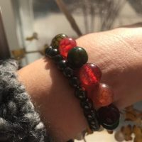 Beautiful Multi-color Agate Stretch Bracelet, Protection Stones, Green, Burgundy Red | Natural genuine Gemstone jewelry. Buy crystal jewelry, handmade handcrafted artisan jewelry for women.  Unique handmade gift ideas. #jewelry #beadedjewelry #beadedjewelry #gift #shopping #handmadejewelry #fashion #style #product #jewelry #affiliate #ad