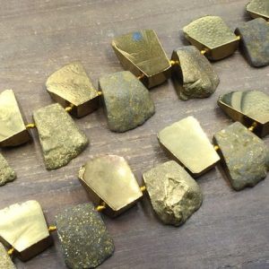 Shop Agate Chip & Nugget Beads! Gold Agate Slice Beads Large Titanium Agate Pendant Slab Nugget Beads Graduated Trapezoid Agate Raw Gemstone Beads Supplies 26-46*21-47mm | Natural genuine chip Agate beads for beading and jewelry making.  #jewelry #beads #beadedjewelry #diyjewelry #jewelrymaking #beadstore #beading #affiliate #ad