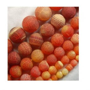 Shop Agate Round Beads! Natural Matte Frosted Orange Hyacinth Fire Crackle Agate beads, 4mm 6mm 8mm 10mm 12mm 14mm 16mm Stone Round Gemstone Beads Jewelry making | Natural genuine round Agate beads for beading and jewelry making.  #jewelry #beads #beadedjewelry #diyjewelry #jewelrymaking #beadstore #beading #affiliate #ad