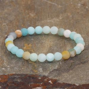Rainbow Amazonite Stacking Bracelet 6mm Beads Throat Chakra Healing Crystals Stress & Anxiety, Emotionally Soothing-EMF Protection-Intuition | Natural genuine Gemstone bracelets. Buy crystal jewelry, handmade handcrafted artisan jewelry for women.  Unique handmade gift ideas. #jewelry #beadedbracelets #beadedjewelry #gift #shopping #handmadejewelry #fashion #style #product #bracelets #affiliate #ad