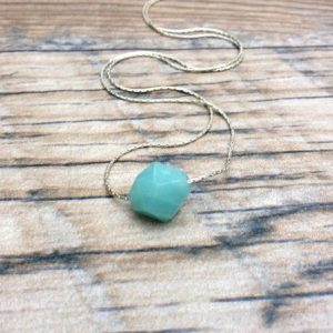 Shop Amazonite Necklaces! Amazonite Choker Necklace, Sterling Silver. | Natural genuine Amazonite necklaces. Buy crystal jewelry, handmade handcrafted artisan jewelry for women.  Unique handmade gift ideas. #jewelry #beadednecklaces #beadedjewelry #gift #shopping #handmadejewelry #fashion #style #product #necklaces #affiliate #ad
