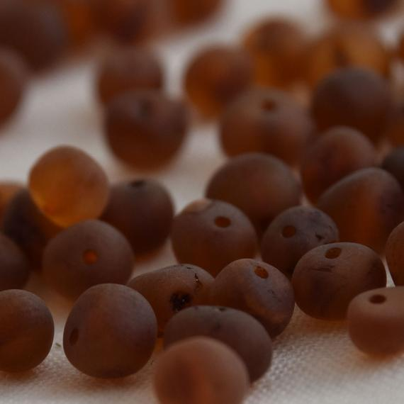 Natural Raw Baltic Amber Nugget Baroque Style Beads - 30 Loose Raw Amber Beads - 4mm - 7mm - Cherry / Cognac / Honey / Lemon / Milk Colour