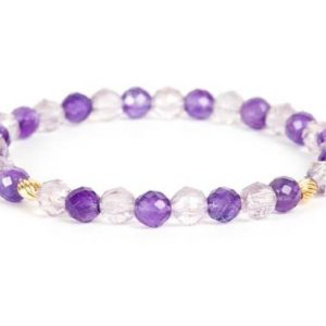 Shop Amethyst Bracelets! February Birthstone Bracelet, Purple Amethyst Gemstone Bracelet – Handmade Gemstone Jewelry | Natural genuine Amethyst bracelets. Buy crystal jewelry, handmade handcrafted artisan jewelry for women.  Unique handmade gift ideas. #jewelry #beadedbracelets #beadedjewelry #gift #shopping #handmadejewelry #fashion #style #product #bracelets #affiliate #ad