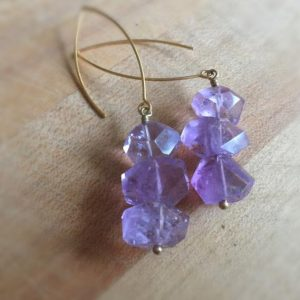 Shop Amethyst Earrings! Amethyst Earrings – Purple Gemstone Jewelry – Statement – Gold – Modern Jewellery – Fashion | Natural genuine Amethyst earrings. Buy crystal jewelry, handmade handcrafted artisan jewelry for women.  Unique handmade gift ideas. #jewelry #beadedearrings #beadedjewelry #gift #shopping #handmadejewelry #fashion #style #product #earrings #affiliate #ad