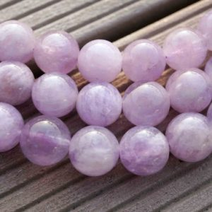 Natural Lavender Amethyst (Madagascar) 11-13mm round beads (ETB00075) | Natural genuine round Array beads for beading and jewelry making.  #jewelry #beads #beadedjewelry #diyjewelry #jewelrymaking #beadstore #beading #affiliate #ad