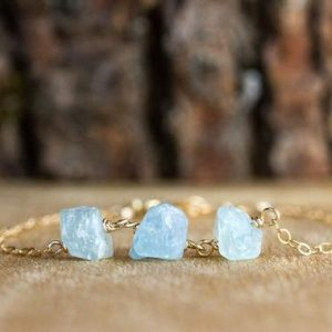 Shop Aquamarine Bracelets! Engraved Raw Aquamarine Bracelet – Raw Crystal Bracelet – Healing Crystal Bracelet – Gift for Her – March Birthstone Bracelet | Natural genuine Aquamarine bracelets. Buy crystal jewelry, handmade handcrafted artisan jewelry for women.  Unique handmade gift ideas. #jewelry #beadedbracelets #beadedjewelry #gift #shopping #handmadejewelry #fashion #style #product #bracelets #affiliate #ad