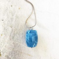 Blue Aquamarine Statement Pendant On A Sterling Silver Snake Chain – March Birthstone | Natural genuine Gemstone jewelry. Buy crystal jewelry, handmade handcrafted artisan jewelry for women.  Unique handmade gift ideas. #jewelry #beadedjewelry #beadedjewelry #gift #shopping #handmadejewelry #fashion #style #product #jewelry #affiliate #ad