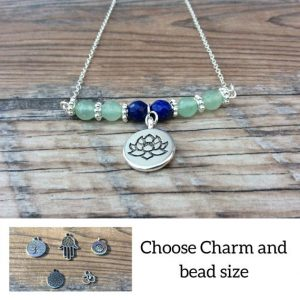 Shop Aventurine Necklaces! Aventurine Lotus necklace, yoga necklace | Natural genuine Aventurine necklaces. Buy crystal jewelry, handmade handcrafted artisan jewelry for women.  Unique handmade gift ideas. #jewelry #beadednecklaces #beadedjewelry #gift #shopping #handmadejewelry #fashion #style #product #necklaces #affiliate #ad