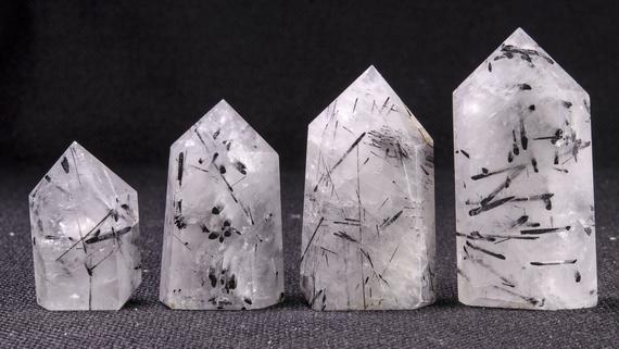 Natural Black Tourmaline Crystal Points/black Tourmaline Crystal Tower/crystal Grid/special Gift/meditation Stone/healing Stone-1pc
