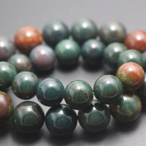 Shop Bloodstone Beads! 6mm/8mm/10mm/12mm Natural Bloodstone Smooth and Round Stone Beads,15 inches one starand | Natural genuine round Bloodstone beads for beading and jewelry making.  #jewelry #beads #beadedjewelry #diyjewelry #jewelrymaking #beadstore #beading #affiliate #ad