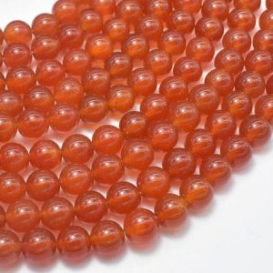 Shop Carnelian Round Beads! Carnelian Beads, Round, 8mm(8.3mm), 15.5 Inch, Full strand, Approx 48 beads, Hole 1mm, AA quality (182054022) | Natural genuine round Carnelian beads for beading and jewelry making.  #jewelry #beads #beadedjewelry #diyjewelry #jewelrymaking #beadstore #beading #affiliate #ad