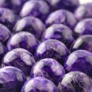 Shop Charoite Stones & Crystals! Charoite Cabochon 10mm Round – 1 Cab, Charoite Stone, Charoite Gemstone, Purple Stone, Purple Charoite, 10mm Cabochon | Natural genuine stones & crystals in various shapes & sizes. Buy raw cut, tumbled, or polished gemstones for making jewelry or crystal healing energy vibration raising reiki stones. #crystals #gemstones #crystalhealing #crystalsandgemstones #energyhealing #affiliate #ad