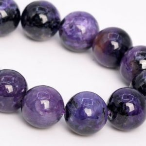 """Shop Charoite Round Beads! 11MM Dark Color Charoite Beads Russia Grade A+ Genuine Natural Gemstone Half Strand Round Loose Beads 7.5"""" Bulk Lot Options (108976h-2836) 
