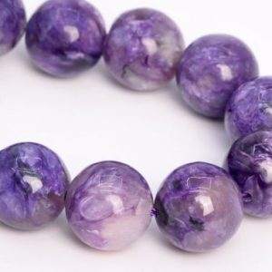 """Shop Charoite Round Beads! 13MM Deep Color Charoite Beads Russia Grade A Genuine Natural Gemstone Half Strand Round Loose Beads 7.5"""" Bulk Lot Options (108987h-2839) 