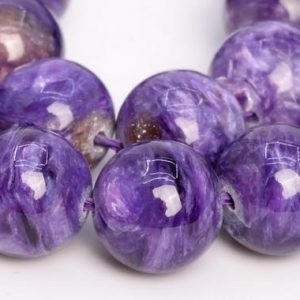 Shop Charoite Round Beads! 17 Pcs – 11MM Deep Color Charoite Beads Russia Grade AA Genuine Natural Round Gemstone Loose Beads (108973) | Natural genuine round Charoite beads for beading and jewelry making.  #jewelry #beads #beadedjewelry #diyjewelry #jewelrymaking #beadstore #beading #affiliate #ad