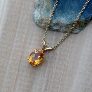 Shop Citrine Pendants! Citrine Pendant, Natural Orange Citrine Necklace, Yellow Gold Oval Citrine Necklace, November Birthstone Pendant, White Gold Sterling Silver | Natural genuine Citrine pendants. Buy crystal jewelry, handmade handcrafted artisan jewelry for women.  Unique handmade gift ideas. #jewelry #beadedpendants #beadedjewelry #gift #shopping #handmadejewelry #fashion #style #product #pendants #affiliate #ad