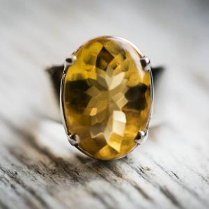 Shop Citrine Engagement Rings! Citrine Ring Size 5 – Buff Top Citrine Ring 5 – Smooth Top Faceted Citrine Ring – Beautiful Citrine Sterling Silver – Buff Top Citrine Ring | Natural genuine Citrine rings, simple unique handcrafted gemstone rings. #rings #jewelry #shopping #gift #handmade #fashion #style #affiliate #ad